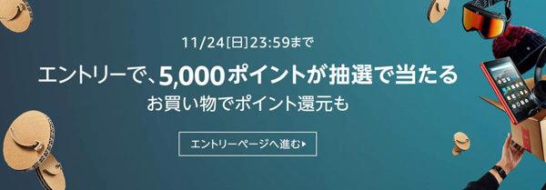 Amazon5,000ポイント抽選キャンペーン